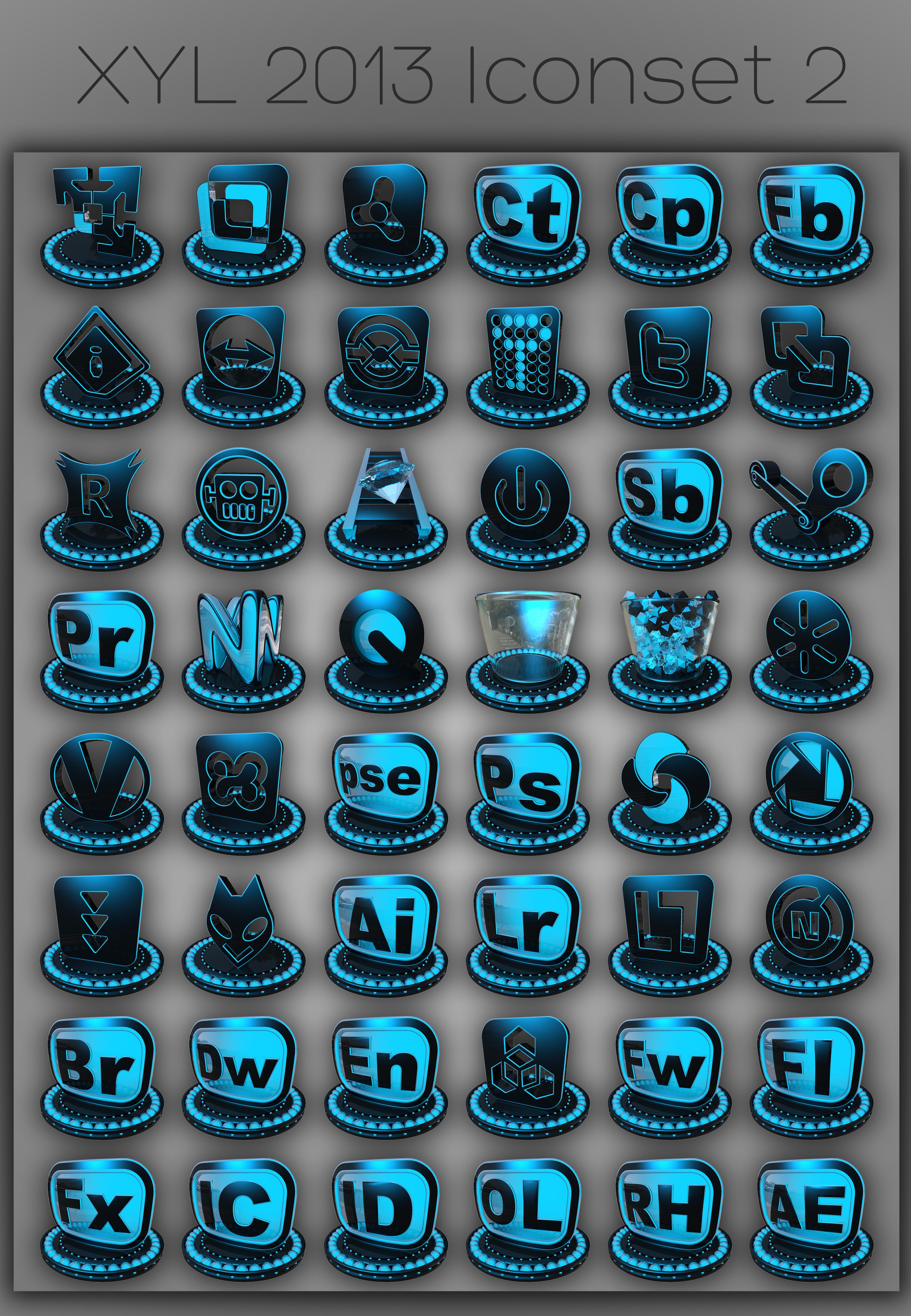 XYL 2013 Iconset 2 by xylomon