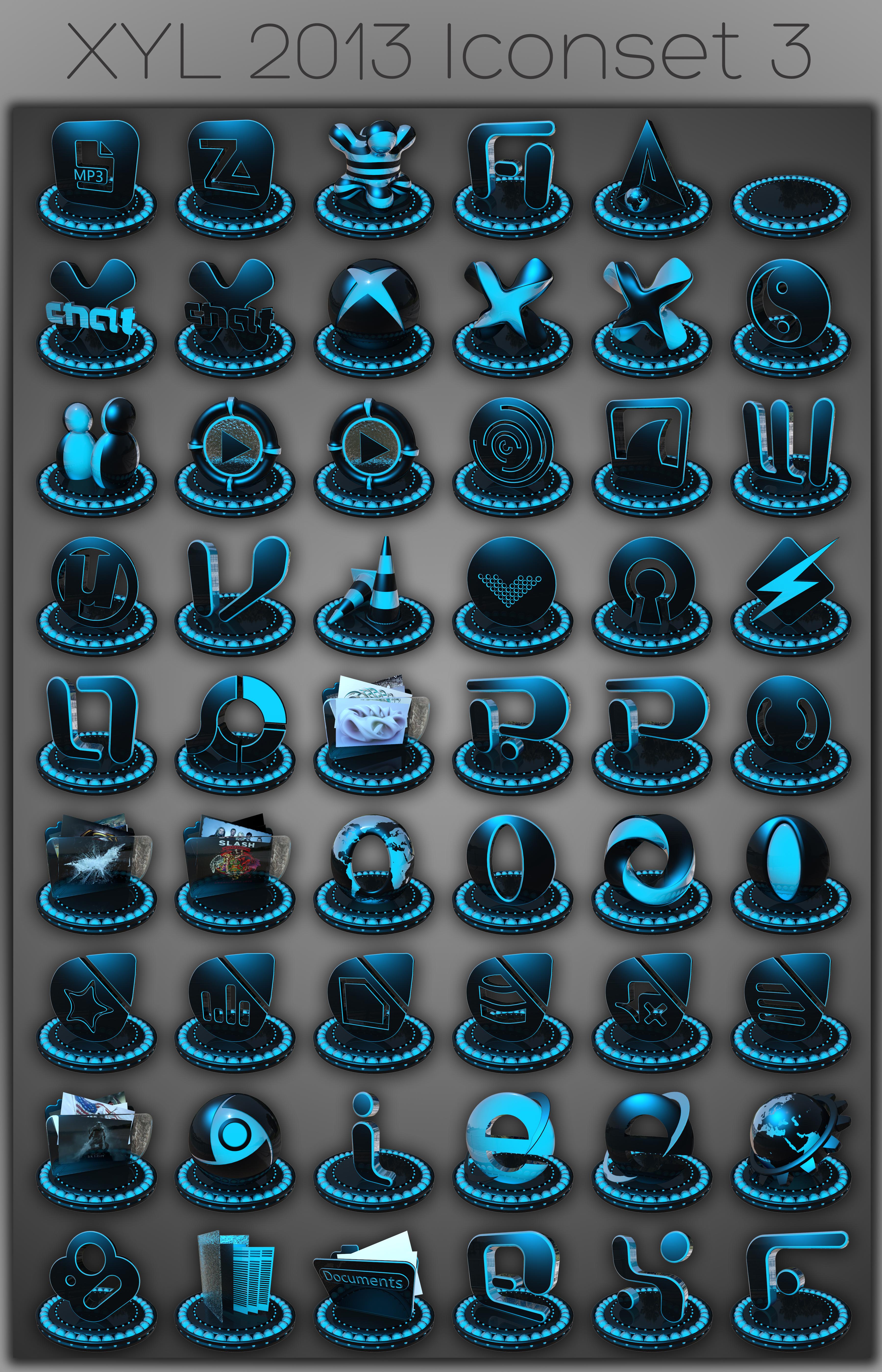 XYL 2013 Iconset 3 by xylomon