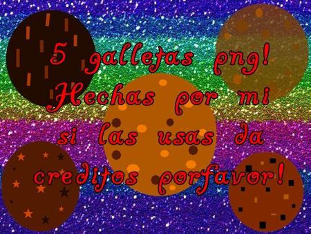 Pack de Galletas PNG! by Sellybel