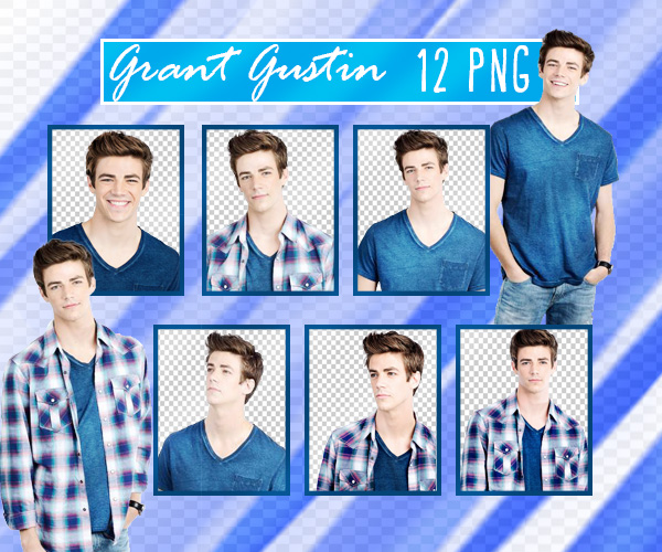 Grant Gustin PNG Pack by sarii016