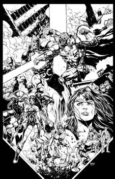 Justice League 44 Cover Inks