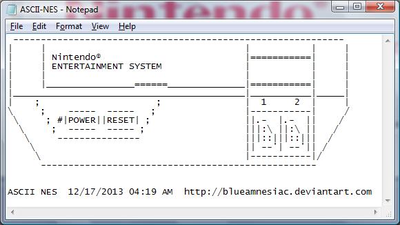 ASCII NES by BLUEamnesiac