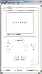 ASCII Game Boy Pocket by BLUEamnesiac