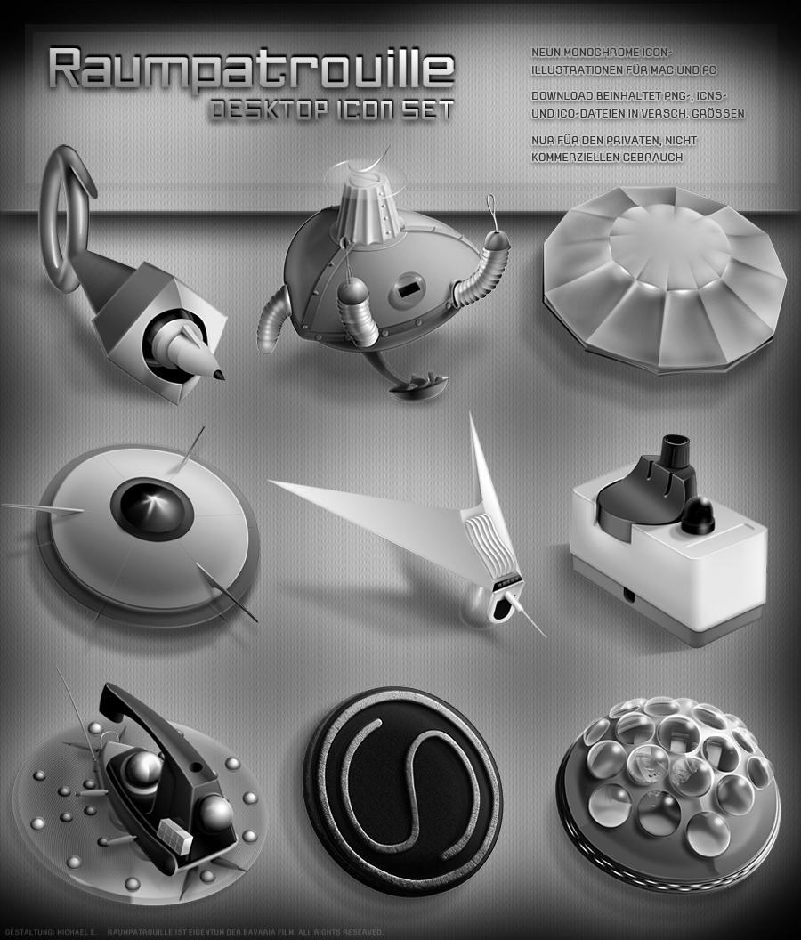 Raumpatrouille Orion Icon Set by MisterXon