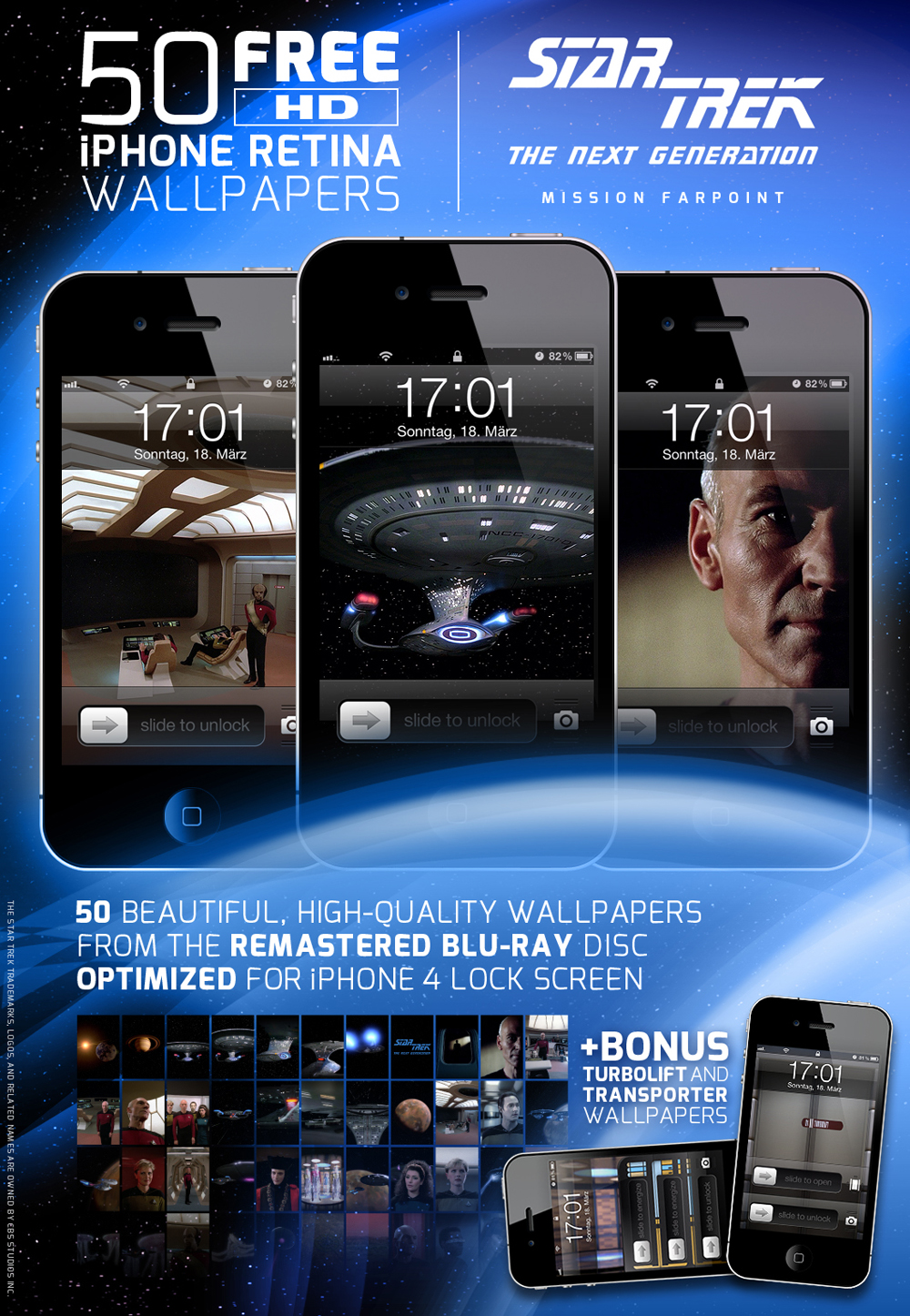 Star Trek TNG: Mission Farpoint iPhone Wallpapers