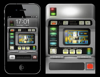 Star Trek iPhone Wallpaper Series: Tricorder by MisterXon