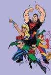 Teen Titans Pencil JScottCampbell Ink JSkipper Fla