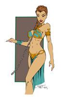 Princess Leia Slave by carloscamposart