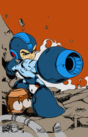 Megaman Tribute by carloscamposart