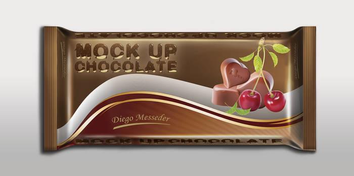 Mock up - Barra De Chocolate 1kg