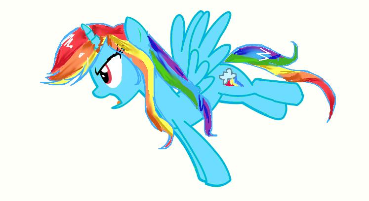 Assertive alicorn rainbow dash by MrsCurlyStyles on DeviantArt