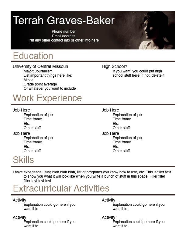 Resume Design By Brandimillerart On DeviantArt