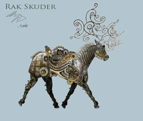 Mechanical Deer - Walk cycle (trotting) by RakSkuder