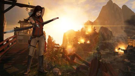 Lara with bow (Sunshine) by Shyngyskhan