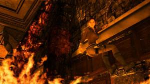 Croft Manor Burning