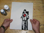 Stop motion painted animation