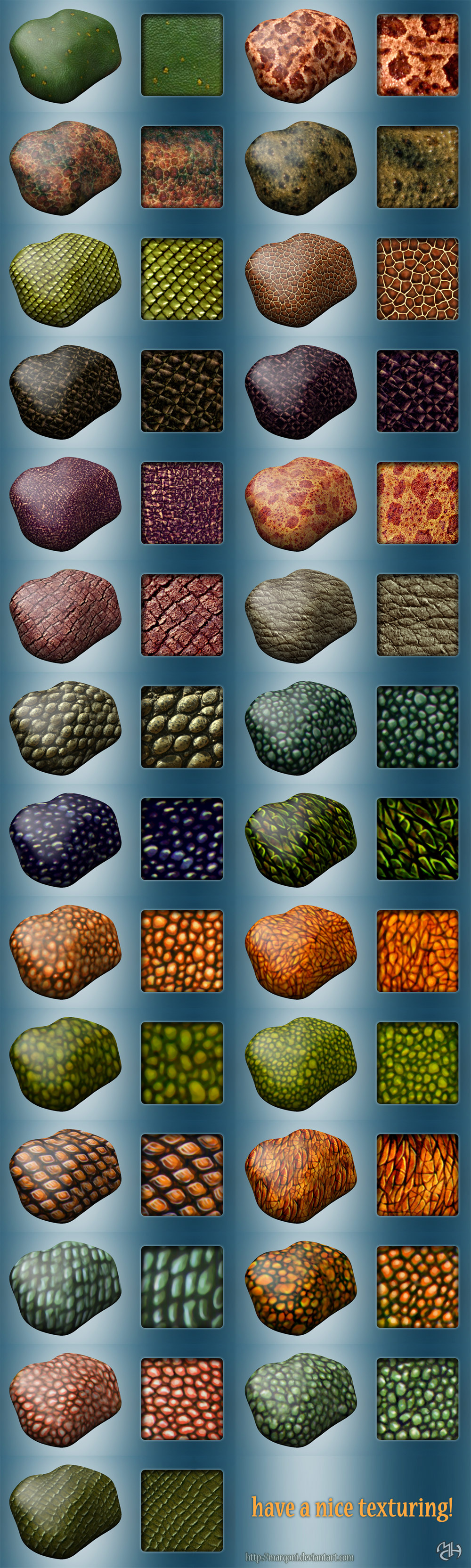 Dragons textures for sculptris