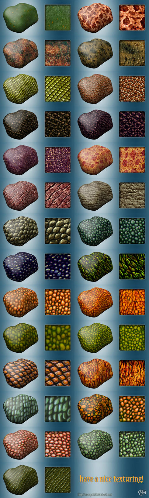 Dragons textures for sculptris by Marqoni