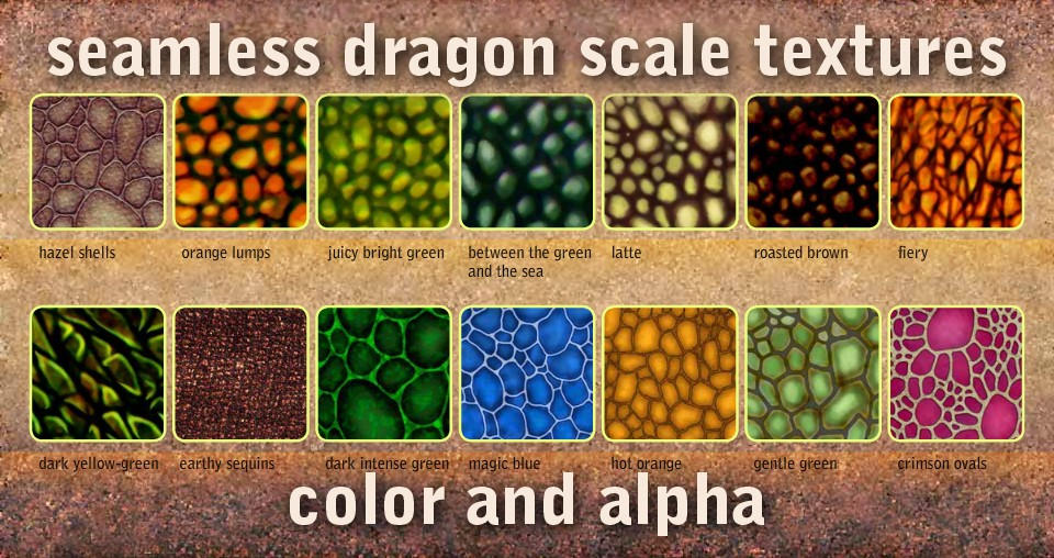seamless dragon scale textures by Marqoni