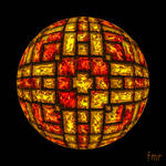 fmr - Citrine and Garnet Jewel Sphere