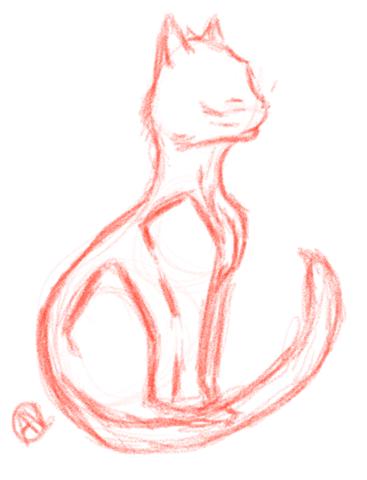 Small Cat Sketch by Karmen4290