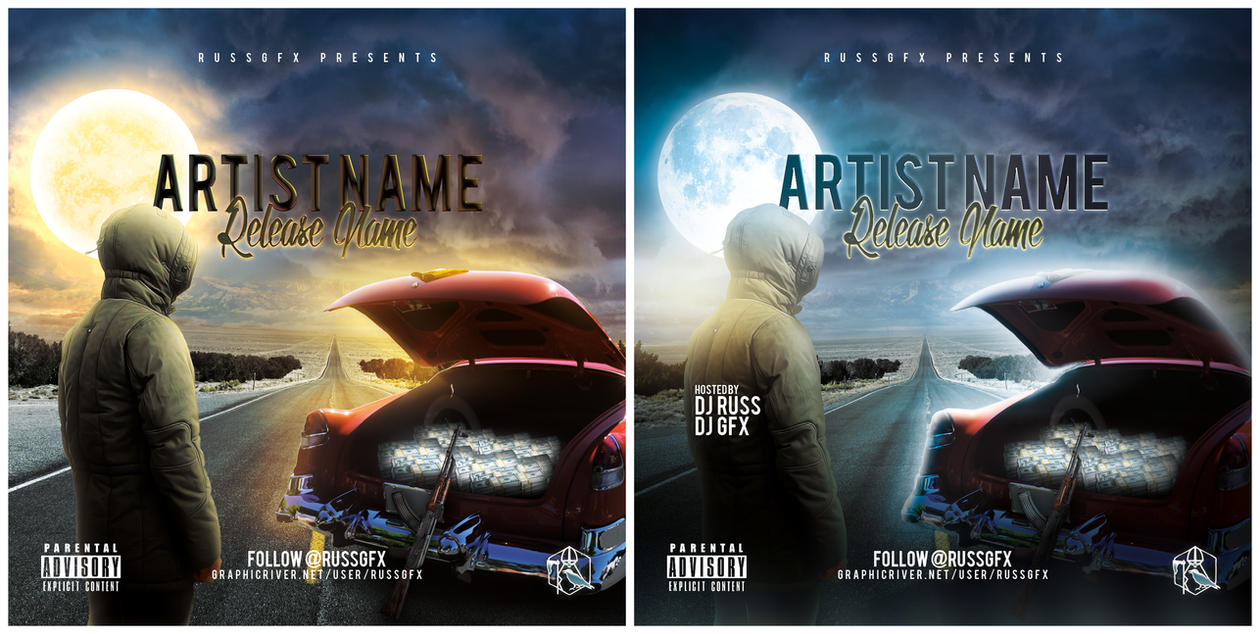 free mixtape templates - the road psd cd cover template free download by russgfx