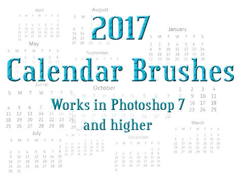 Calendar 2017 Photoshop Brushes