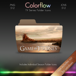 Colorflow TV Folder Icons: Game of Thrones
