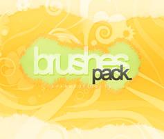 Floral brushes pack. by SparksOfLights
