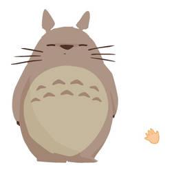 Scratch Totoro's belly ! by newbee-work