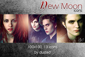 Icons: New Moon Promo by dusted92