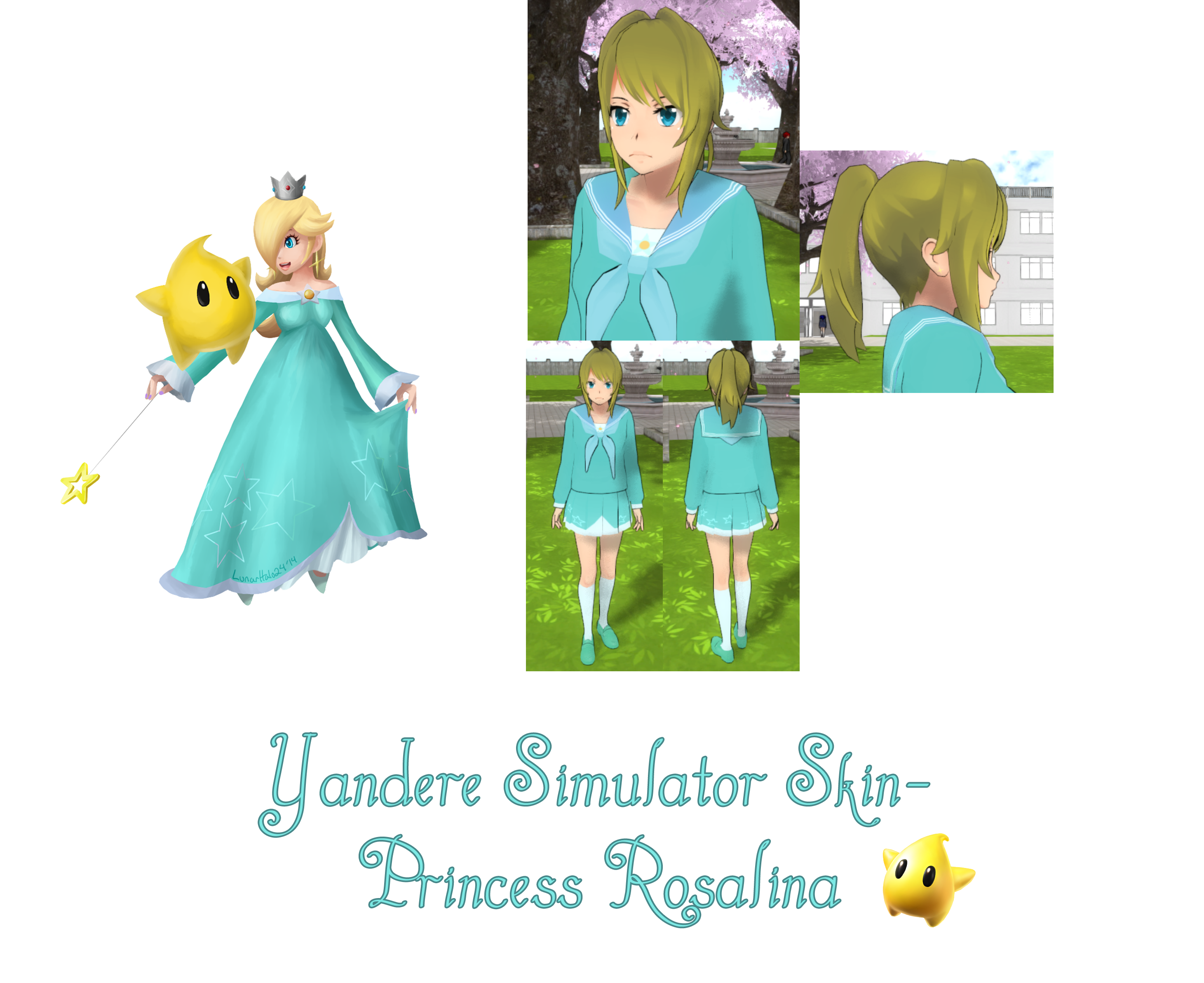 Yandere Simulator Princess Rosalina Skin By Imaginaryalchemist On
