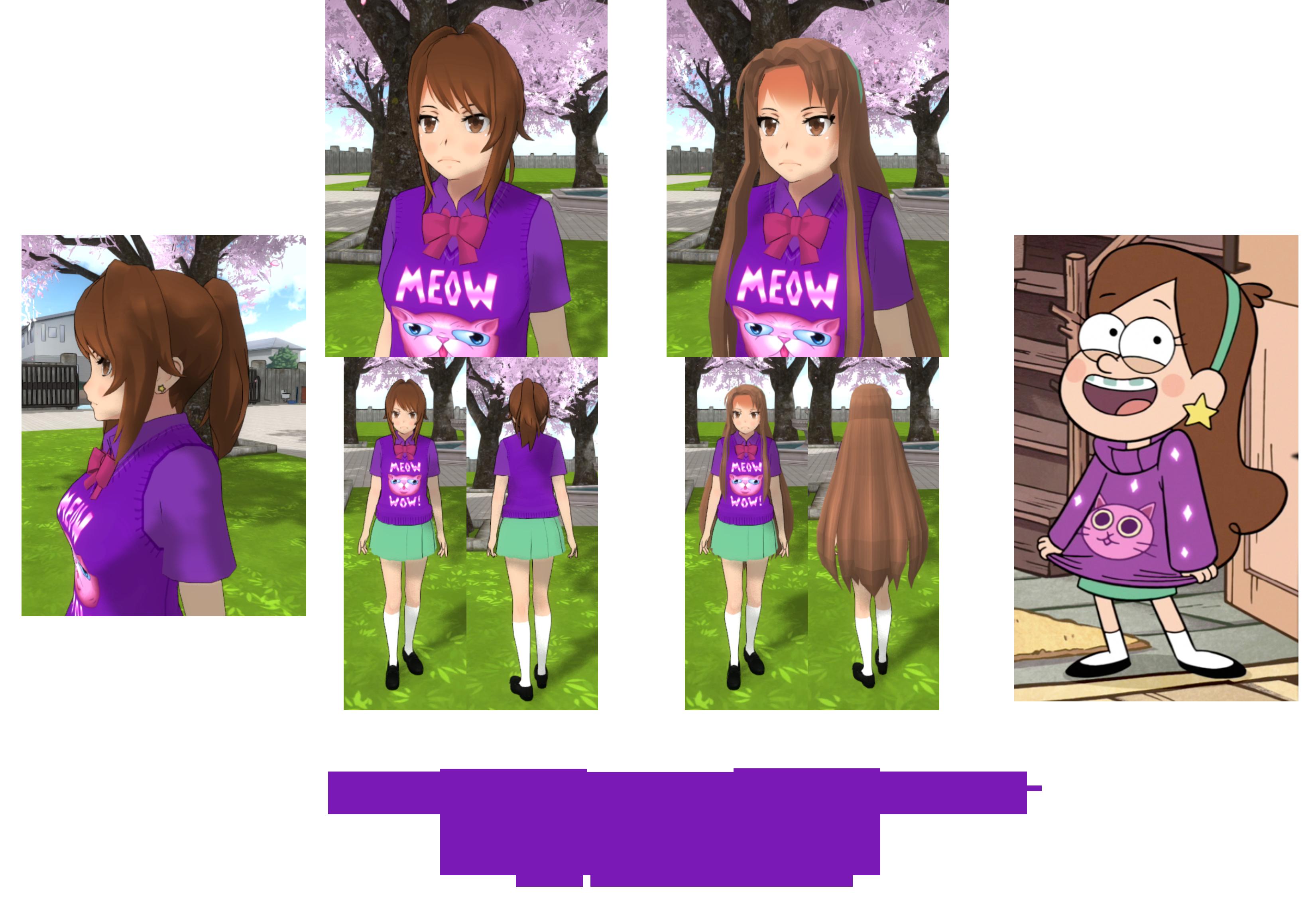 How to install sans undertale skin download sans undertale skin - Yandere Simulator Mabel Pines Skin By Imaginaryalchemist
