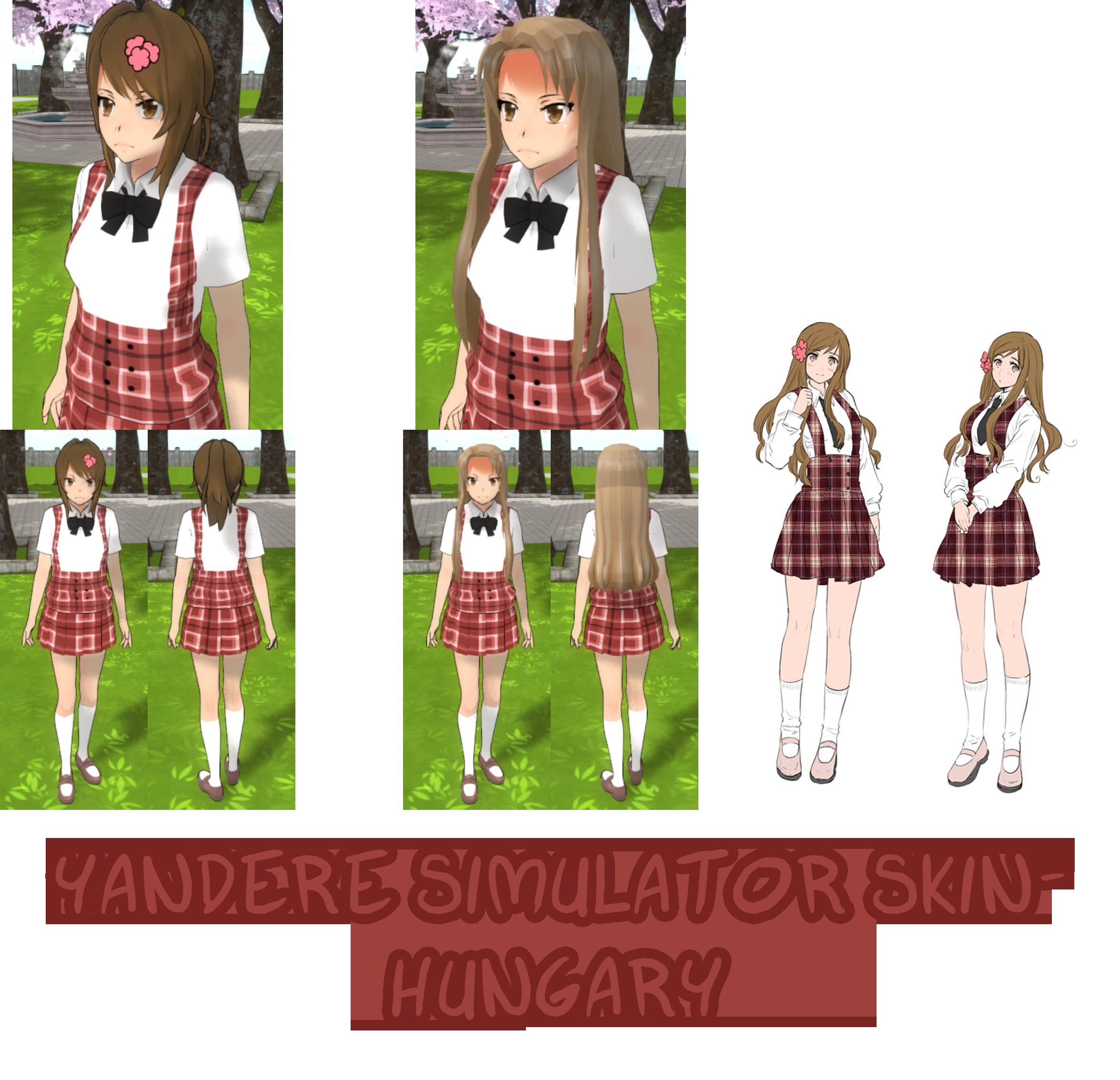 Yandere simulator chara skin by imaginaryalchemist on deviantart.