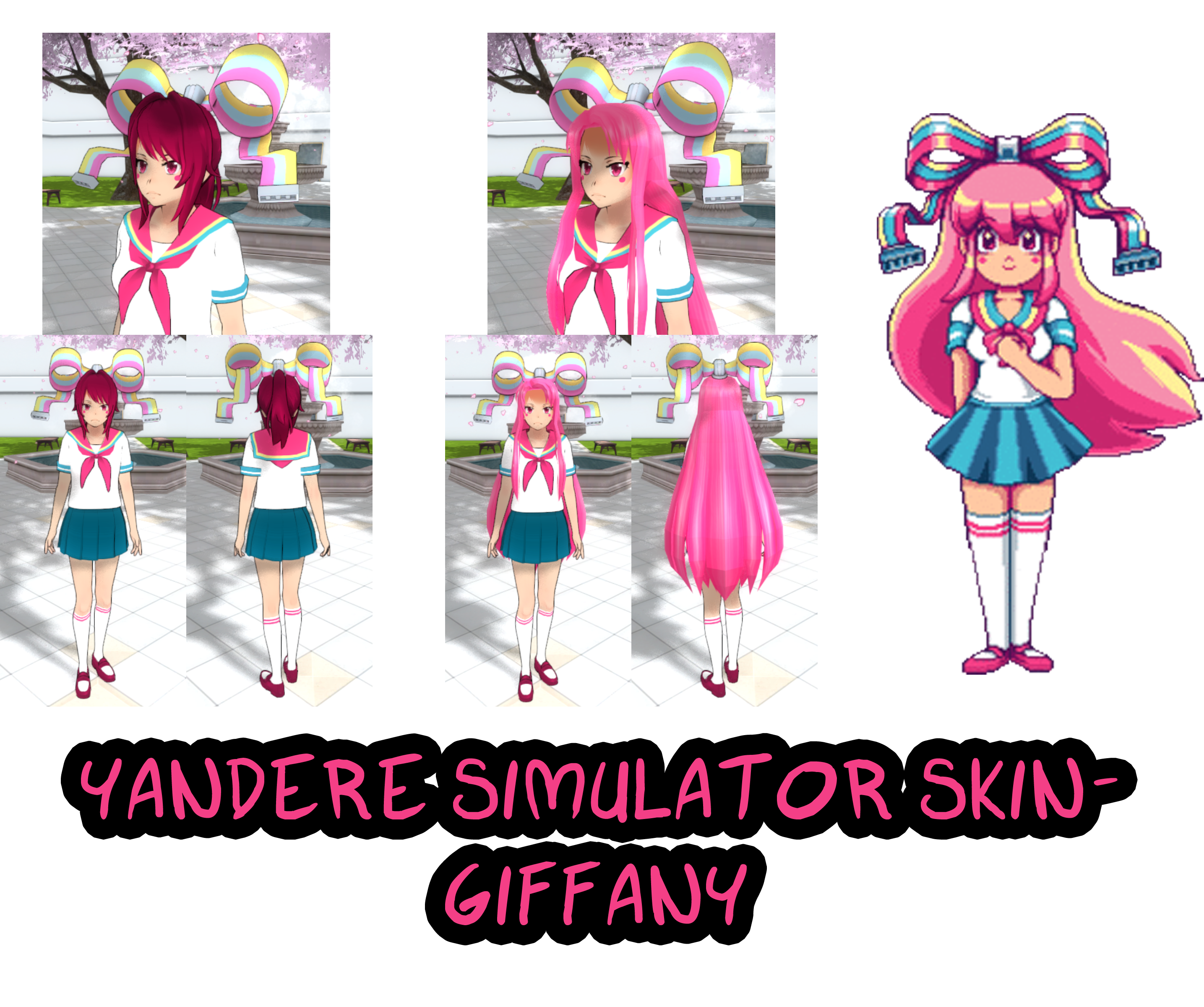 Yandere Simulator- Giffany Skin by ImaginaryAlchemist on