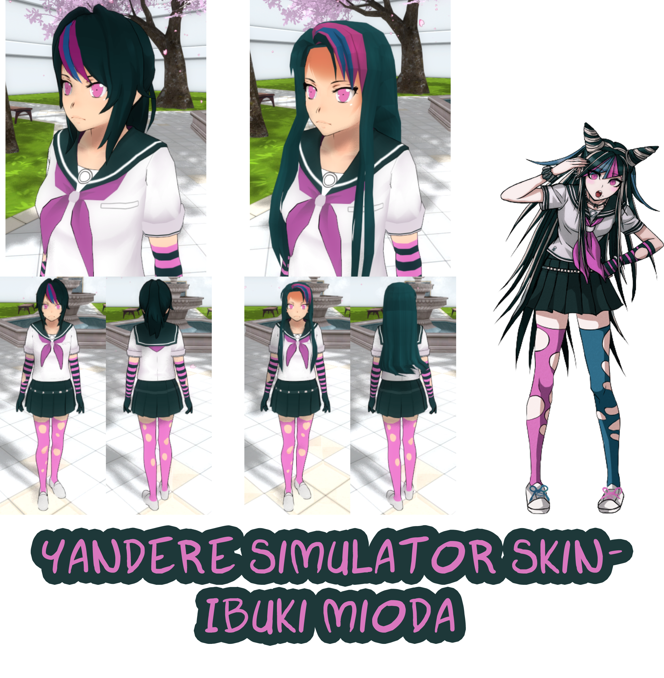Yandere Simulator- Ibuki Mioda Skin by ImaginaryAlchemist on