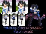 Yandere Simulator- Ruko Yokune Skin