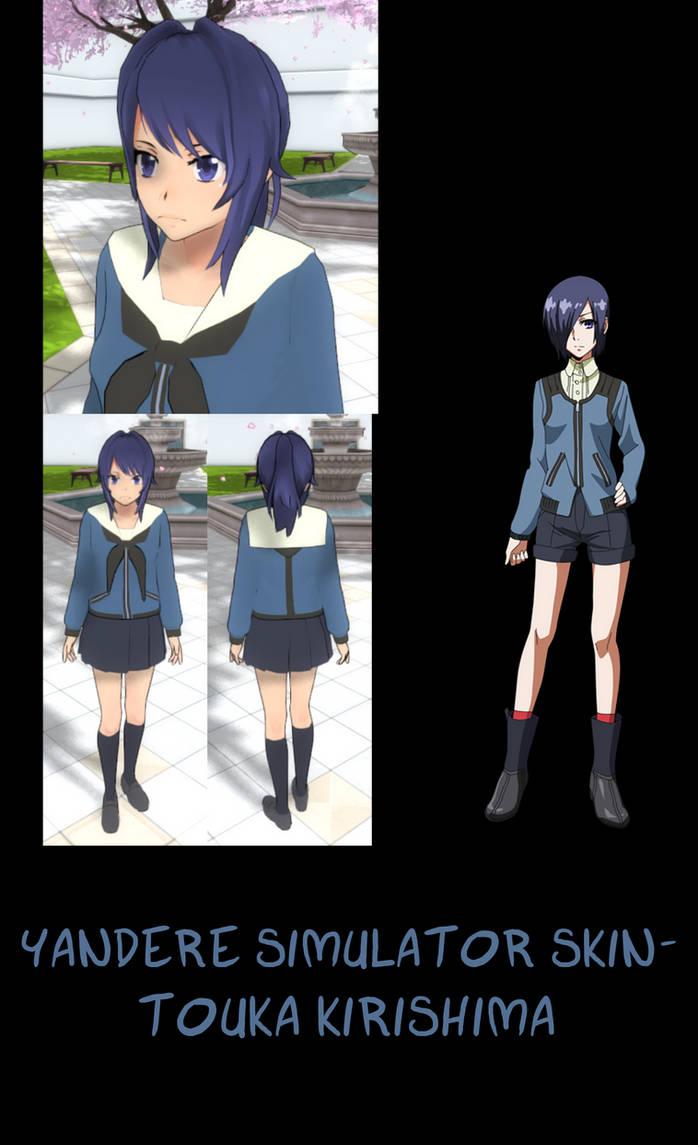 Yandere Simulator- Touka Kirishima Skin by ImaginaryAlchemist on