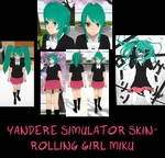 Yandere Simulator- Rolling Girl Miku Skin