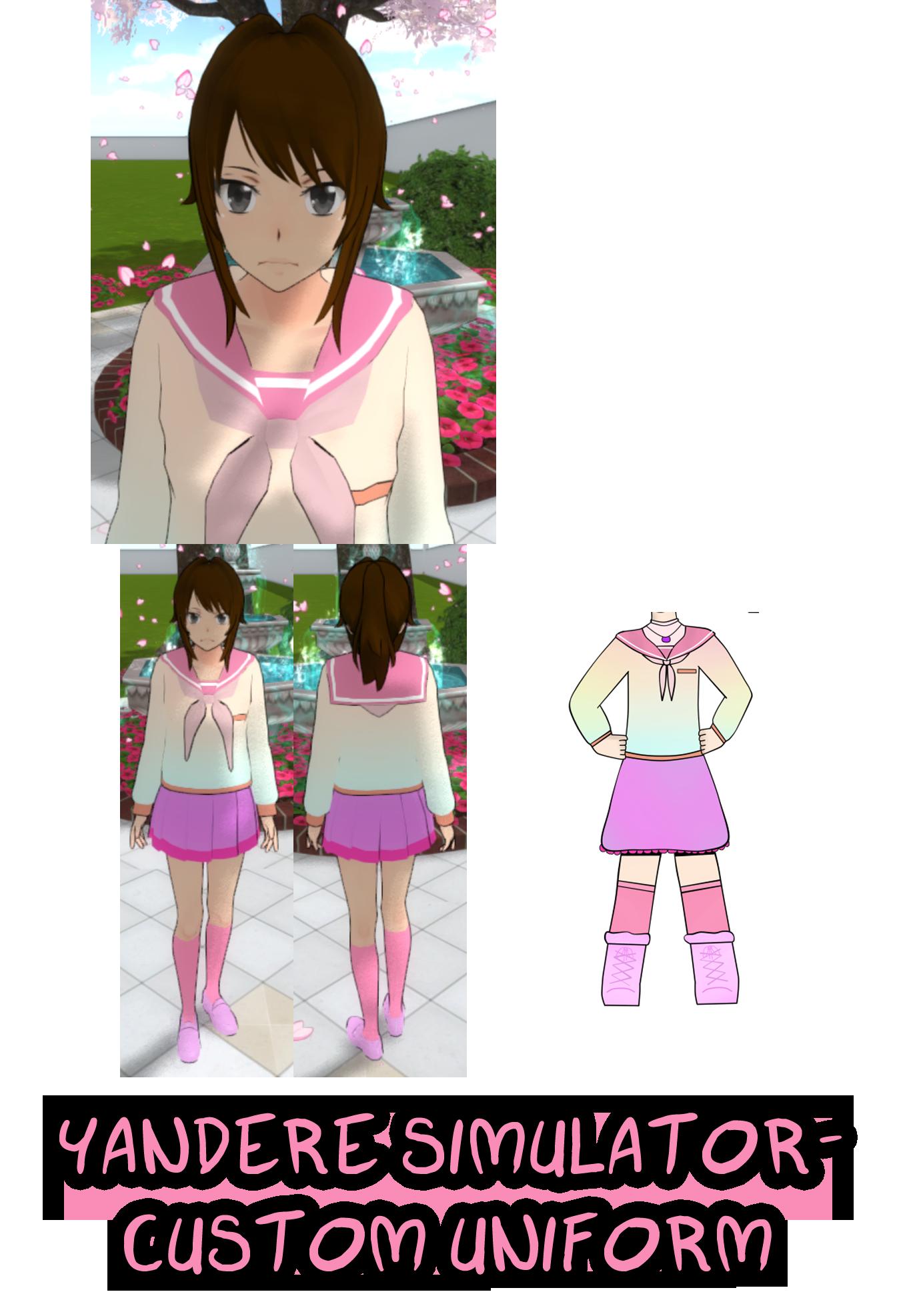 Yandere Simulator- Custom Uniform and Hair by ImaginaryAlchemist on