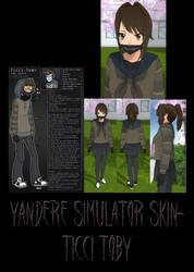 Yandere Simulator- Ticci Toby Skin by ImaginaryAlchemist