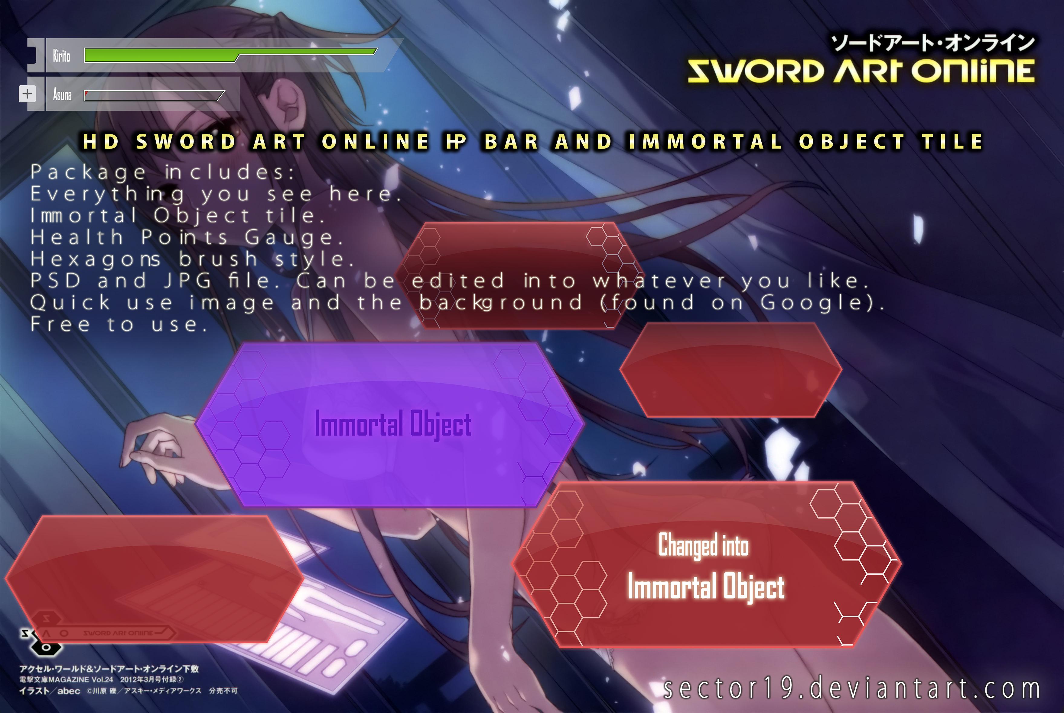 Sword Art Online Gadgets In Hd By Sector