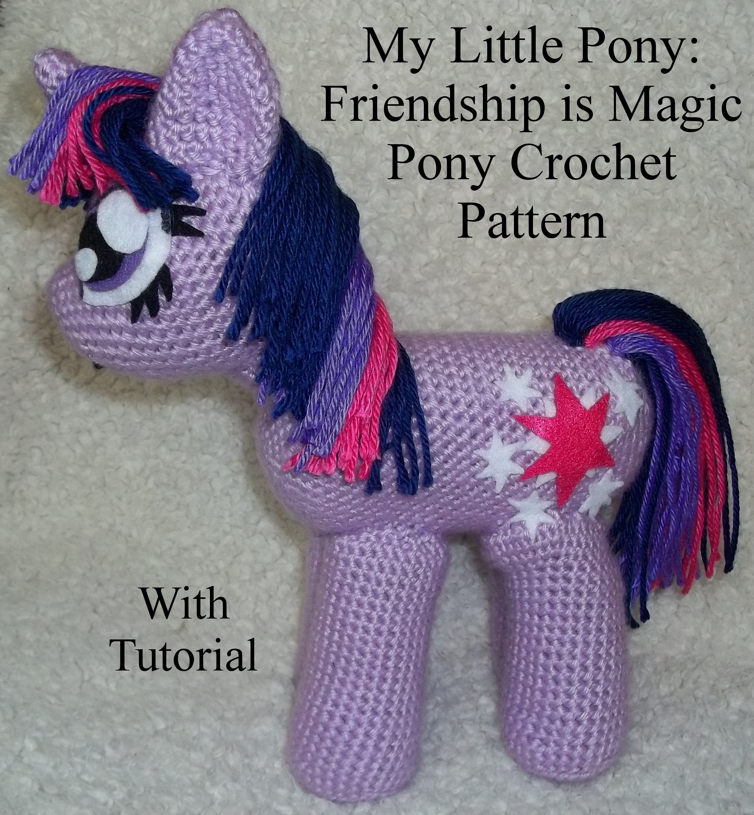 MLP: FiM Pony Crochet Pattern (with Tutorial) by ...