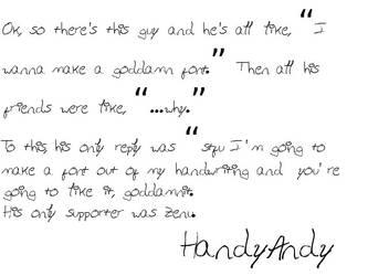 HandyAndy font by flytape8490