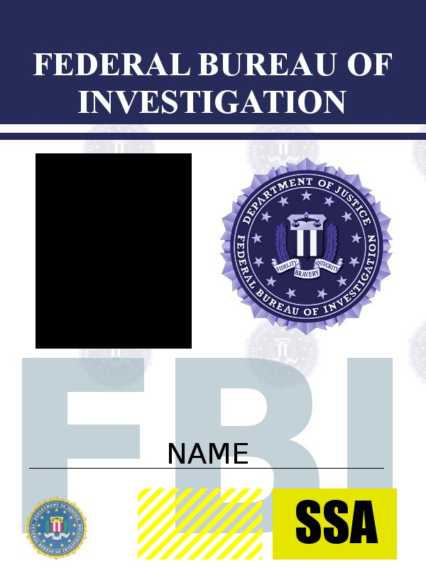 Image Result For Fbi Id Template