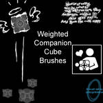 Weighted Compainion Cube Brush
