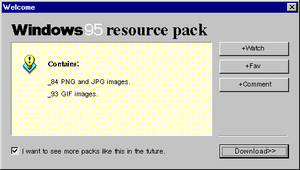 Windows 95 pack by Grosstitute