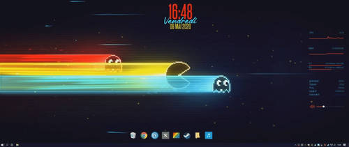 Pacman-Wall-Rainmeter-WallpaperEngine-RocketDock