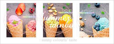 Summer rainbow : icon set