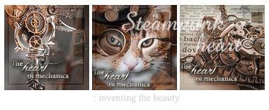 Steampunk heart : icon set